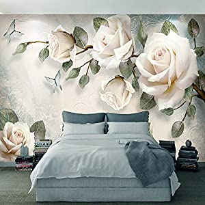 HUANGYAHUI Mural European Abstract Oil Painting 3D Stereo Flower Wallpaper Living Room Television Background Wall Wedding Decoration