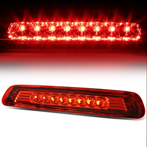 (For 03-09 4Runner N210 w/o Spoiler Rear High Mount LED 3rd Tail Brake Light (Red Lens))