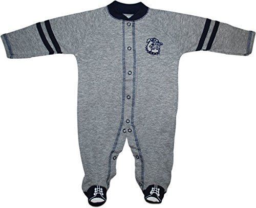 Creative Knitwear Georgetown University Bulldogs Sports Shoe Footed Romper