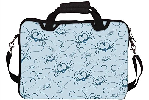 Snoogg Abstraktes Muster 30,5cm 30,7cm 31,8cm Zoll Laptop Notebook Computer Schultertasche Messenger-Tasche Griff Tasche mit weichem Tragegriff abnehmbarer Schultergurt für Laptop Tablet PC Ultrabo