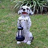 LOVEPET Outdoor Solar Light Simulation Animal Mascot Ornaments Courtyard Villa Garden Sculpture FRP Decoration 15X20X33cm