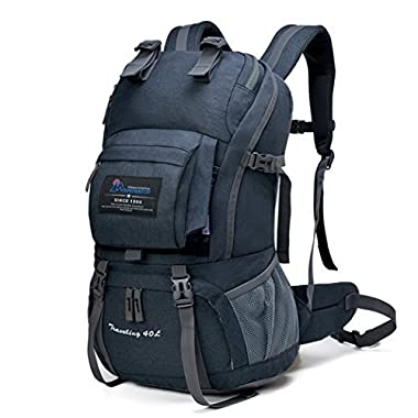 Mountaintop Outdoor Waterproof Hiking Climbing School Backpacks Black