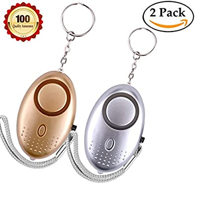 Personal alarm Emergency Self-Defense Security Alarms 135-140db Alarms keychain with LED Light for women kids and elderly or Night Workers self Defense alarm