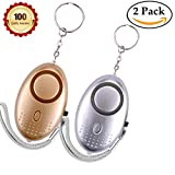 Personal alarm Emergency Self-Defense Security Alarms 135-140db Alarms keychain with LED Light for women kids and elderly or Night Workers self Defense alarm (Gold and Silver Combination)