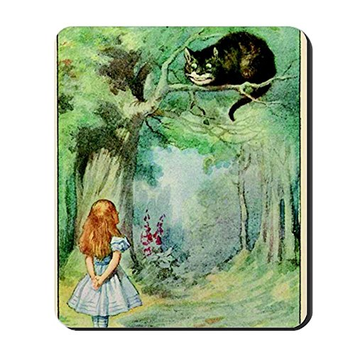 CafePress - Alice in Wonderland The Cheshire Cat Vin - Non-Slip Rubber Mousepad, Gaming Mouse -