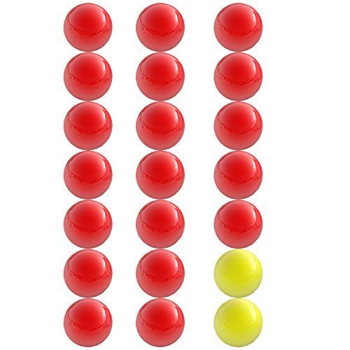 (Hungry Hungry Hippos -Compatible Replacement Marbles - 21 Pieces (19 Red and 2 Yellow) - Perfect Replacement Game Balls - by Impresa Products)