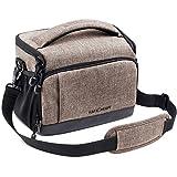 Camera Bag Case, K&F Concept DSLR Gadget Bag Shockproof Travel Padded Shoulder Bag with Rain Cover for Canon, Nikon, Olympus, Sony Digital SLR Cameras, Lenses and Accessories