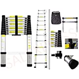 2.9M Telescopic Extendable Extension Ladder extendable multi purpose ladder with FREE CARRY BAG ANDEN131-1, EN131-2, EN131-3 Certificate