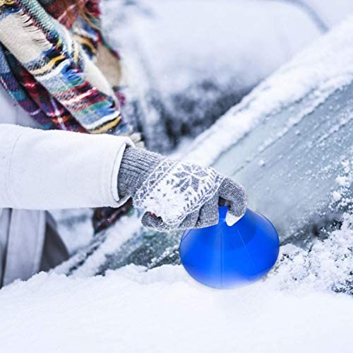 hdee Magical Car Ice Scraper - Windshield Snow Removal Wiper - Snow Removal Funnel Tool - Cone Shaped Windshield Ice Shovel - Snow Remover Deicer - Round Deicing Scraping Tool