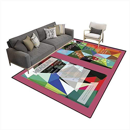 - Washable Carpet Set of Flyer Brochure Design Templates Geometric Triangular We