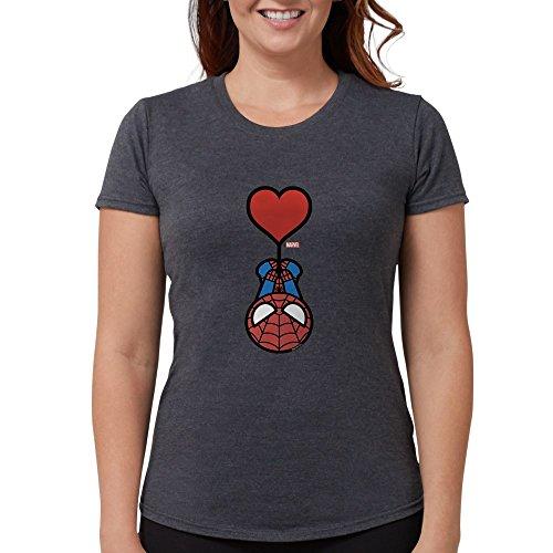 CafePress Spider-Man Heart - Womens Tri-Blend T-Shirt