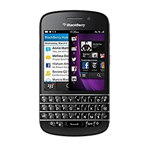 Blackberry Q10 SQN100-1 16GB Unlocked GSM 4G LTE OS 10 Cell Phone - Black (Certified Refurbished)
