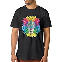 F.Pansy Stylish Abstract Lion Men's Classic Short Sleeve T-Shirt
