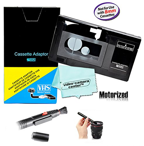 Motorized VHS-C Cassette Adapter For JVC C-P7U CP6BKU C-P6U,Panasonic PV-P1,RCA VCA115 + LensPen Lens Cleaner + 1 VCC113 Micro-Fiber Cloth™ by VCC113