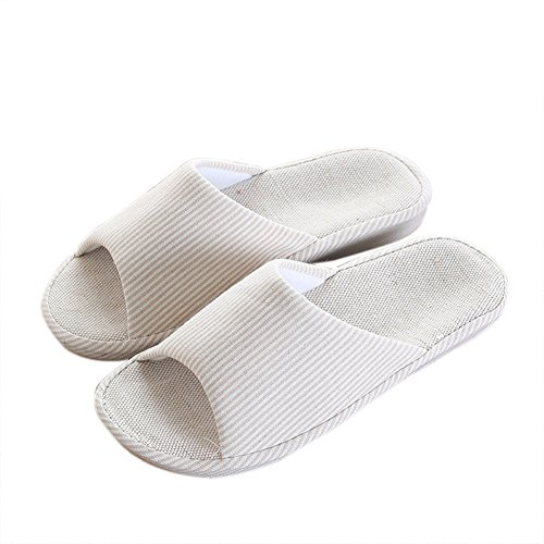 VWU - Zapatillas de estar por casa para mujer Beige