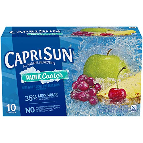 Capri Sun Pacific Cooler Juice Drink Blend, Mixed Fruit, 10 ct, 6 oz
