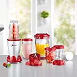 Mixer Mr. Magic Deluxe Set 18 Teilig 400W, BPA Frei, Smoothiemaker mit Edelstahlklingen (Neue Version 2017)