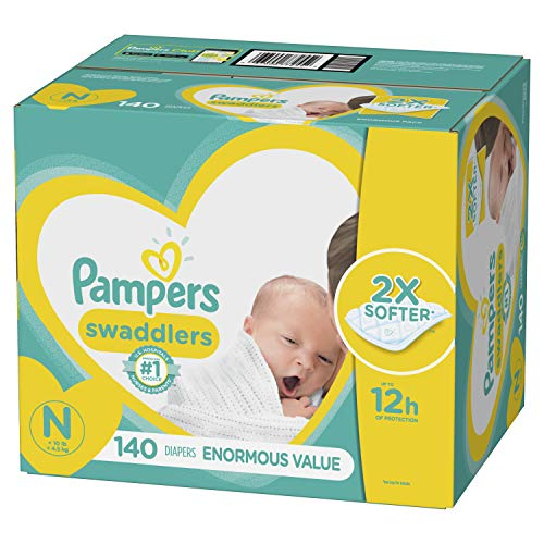 Diapers Newborn / Size 0 (< 10 lb), 140 Count - Pampers Swaddlers Disposable Baby Diapers, Enormous Pack (Pamper For Newborn)