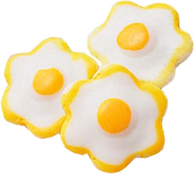 Yardwe Resina Huevo Frito Artificial Falsa Comida Pretende Cocina ...