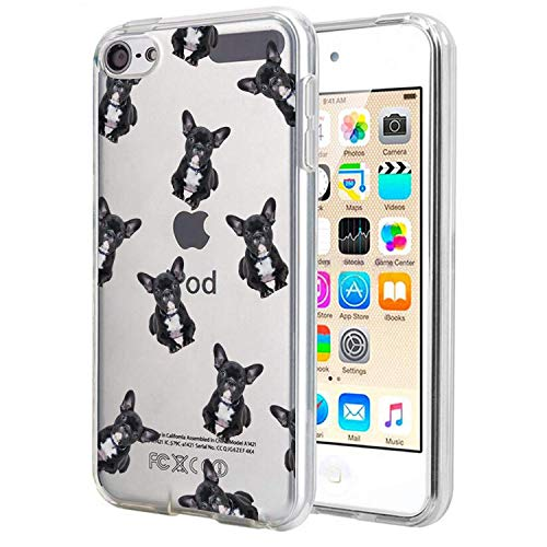 (Matcase for I pod Touch 6 Case I pod Touch 5 Case - French Bulldog Crystal Clear Transparent Anti Scratch Resistant Shock Absorption Ultra Slim Fit Protective with TPU Bumper)