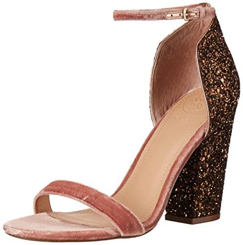 GUESS Women's Bambam Heeled Sandal, Bronze, 7.5 Medium (Bronze Heeled)