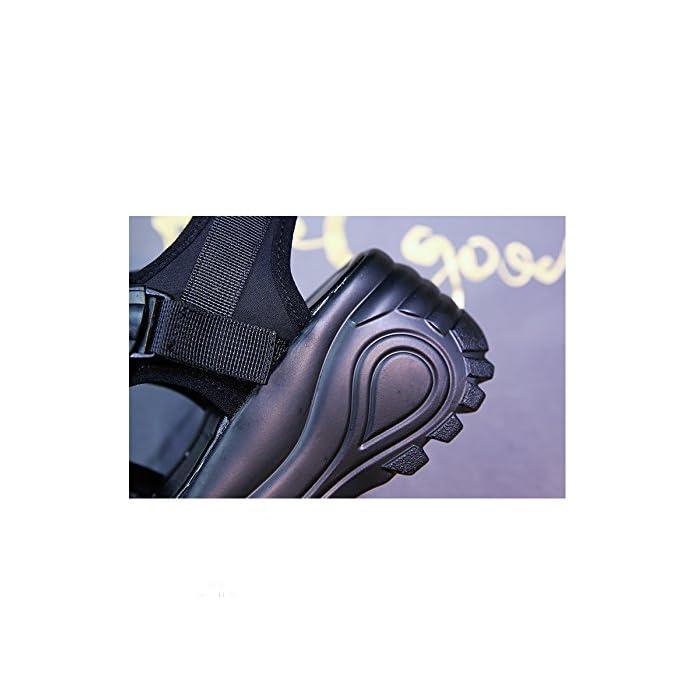 Yxlong Sandali Da Donna Spessa Velcro Estate Nuove Shake Piccola Taglia 33 Zeppe Con Tacco Alto