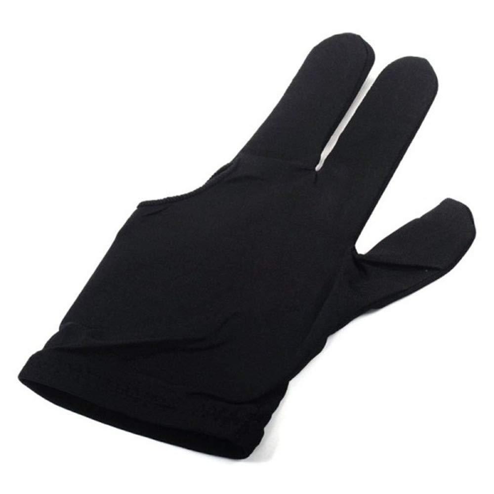 3 Guantes de Billar con los Dedos extendidos,para Jugadores de Billar,Deportes de Knox,para Mujeres,Hombres,Mano Derecha o Izquierda.
