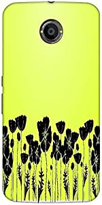Snoogg Grass And Poppy Designer Protective Back Case Cover For Google Nexus 6