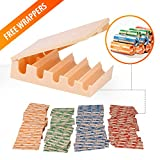 coin tray sorter - Coin Changers Tray Bundle of 100 Assorted Wrappers with 1 Compact Coin Sorter & Counter Organizer
