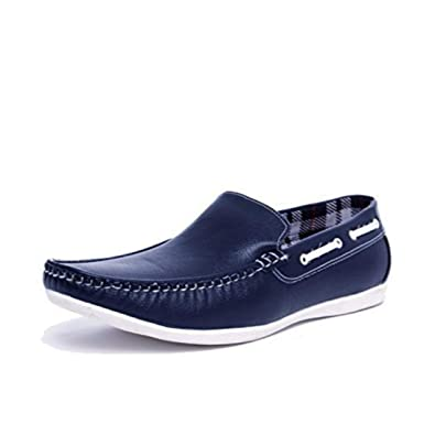 d75175b7738a5 Prayog Men's Blue Loafer Shoes: Buy Online at Low Prices in India ...