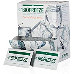 Biofreeze Pain Relief Gel for Arthritis, Fast Acting and Long Lasting Cooling Pain Reliever for Muscle Pain, Joint Pain, Back Pain, 5mL Packet, 100 Count, Topical Analgesic, Original Green Formula