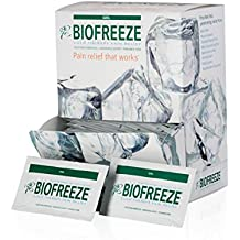 Biofreeze Pain Relief Gel for Arthritis, Fast Acting Cooling Pain Reliever for Muscle Pain, Joint Pain, and Back Pain, 5mL Packet, 100 Count, Topical Analgesic, Original Green Formula, 4% Menthol