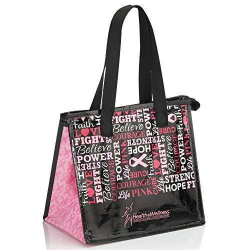 Laminated Insulated Breast Cancer Awareness Lunch Bag - Listed for charity - Laminated Lunch