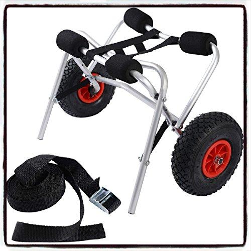 Aluminum-Transport-Kayak-Boat-Canoe-Gear-Dolly-Cart-Trailer-Carrier-Trolley-Wheels-House-Deals
