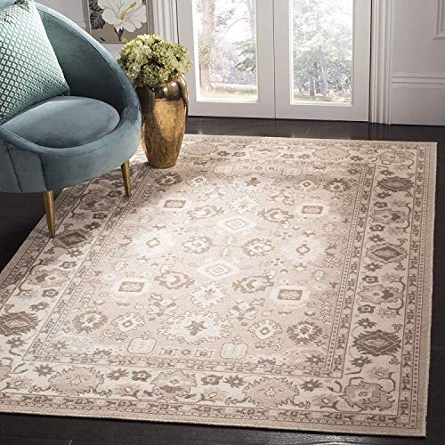 Essence Collection ESS751A Taupe and Natural Area Rug (3' x 5'), Home Decor Area Rugs Runner for Bedroom Living Room Dining Room