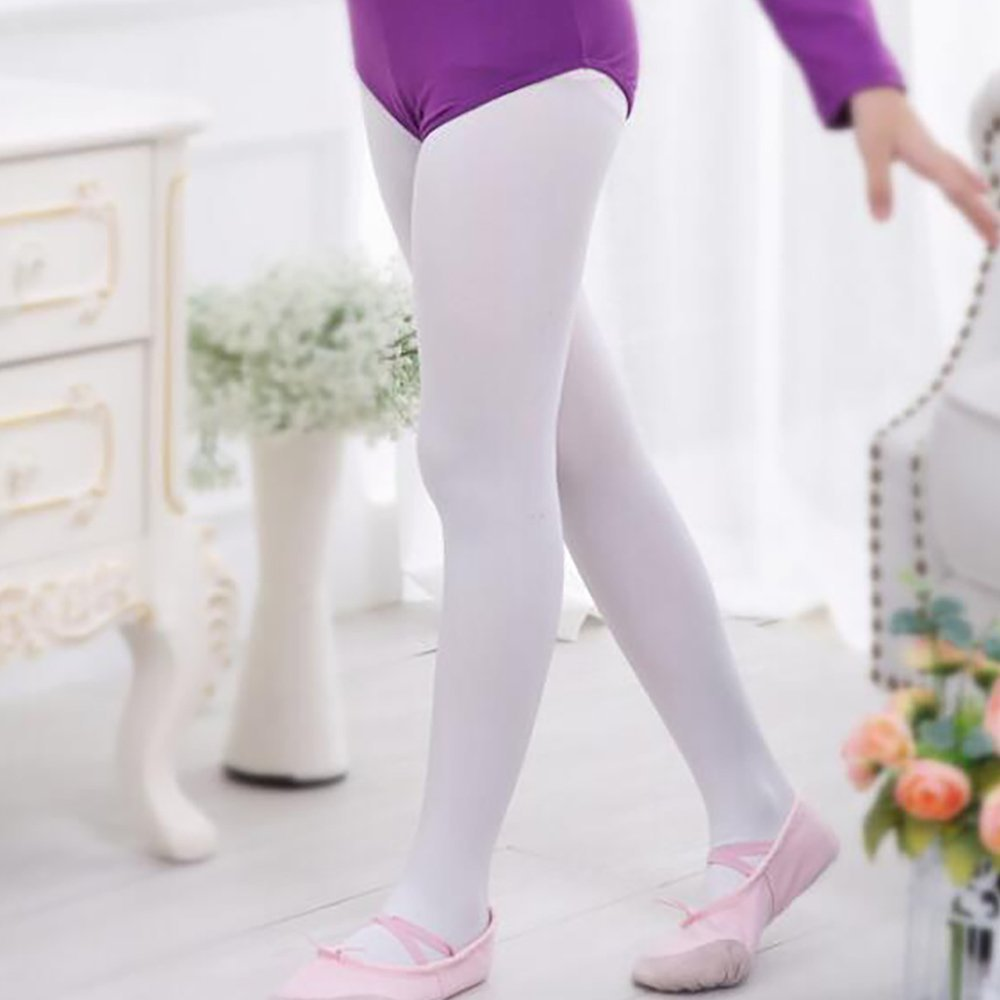 Abollria Girls Ultra Soft Pro Dance Tight//Ballet Transition Tight Toddler//Little Kid//Big Kid