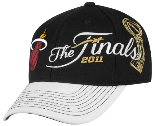 Miami Heat Championship - NBA Miami Heat 2011 Conference Champions Locker Room Hat (Black/White, OSFA)