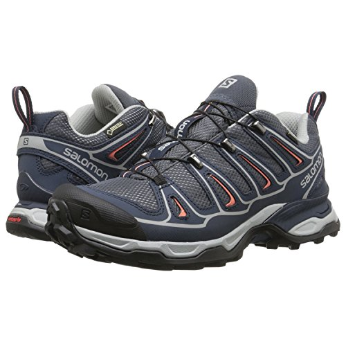 Salomon Womens X Ultra 2 GTX W Hiking Shoe Grey DenimDeep BlueMelon Bloom 9 M US