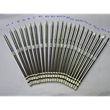 25 PCS China Made Soldering Tip T12-I,IL,ILS,D08,D12,D16,D24,D32,D4,D52,C1,BC1,BC2,BC3,BCF3,C4,T12-B,T12-BZ,T12-B2,T12-BL,T12-K,T12-KL,T12-KR,K,J02,Not HAKKO, T12 interchangeable with T15, 9501