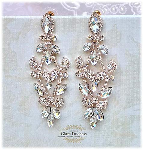 06d840914d946 Amazon.com: Bridal Chandelier Earrings, Crystal Chandelier Earrings ...