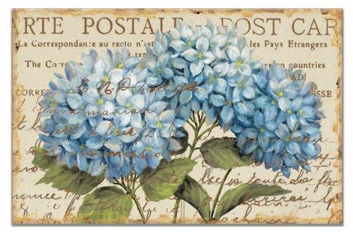 Counterart Paper Placemat, Blue Hydrangeas, 24-Pack