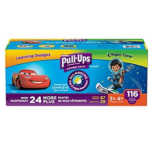 Huggies® Pull-Ups® Training Pants for Boys Day and Night Combo Pack Size: 3T- 4T 116 Count by HUGGIES