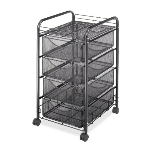 Delicieux Safco Products 5214BL Onyx Mesh File Cart With 4 Storage Drawers, Black
