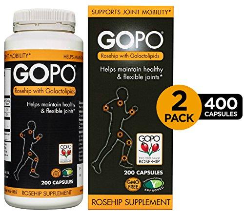 Gopo Rose Hip Joint Health Vitamin C Capsules - 200 Capsules, Pack Of 2 (Rose Msm)