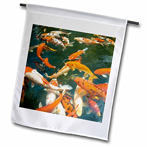 3dRose fl_71987_1 Ornament Koi, Shopping Mall, Malacca, Malaysia AS23 SWS0093 Stuart Westmorland Garden Flag, 12 by - Mall Fl