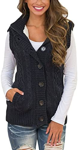 Sidefeel Hooded Cardigans Button Sweater