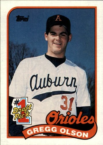 1989-topps-baseball-rookie-card-161-gregg-olson-mint