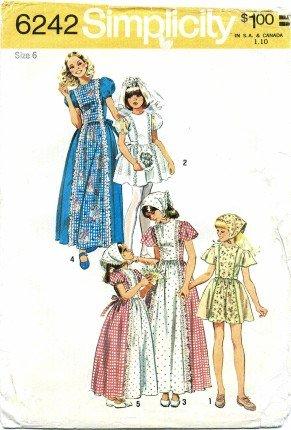 Amazon.com: Simplicity 6242 Sewing Pattern Folklore Flower Girl Boho ...
