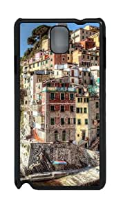 Hdr Riomaggiore Italy Custom Polycarbonate Hard Case For Samsung Galaxy Note 3 / Note III/ N9000 - Black