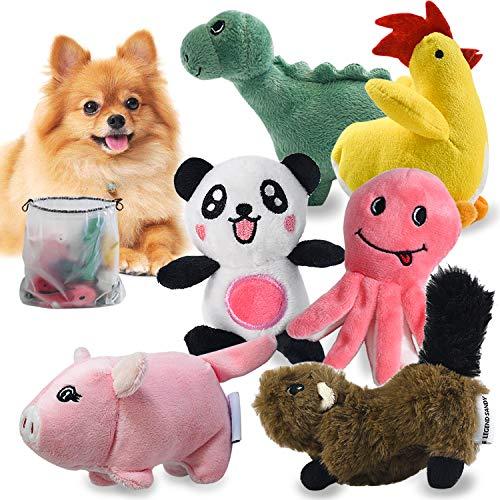 LEGEND SANDY Squeaky Dog Toys for Puppy Small Medium Dogs, Stuffed Samll Dog Toys Bulk with 12 Plush Pet Dog Toy Set…
